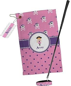 Rosa pirata toalla de Golf Set de regalo (personalizado): Amazon.es: Deportes y aire libre