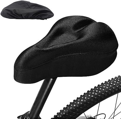 SHABEI asiento de bicicleta cubierta – Bicicleta Silicona cómodo ...