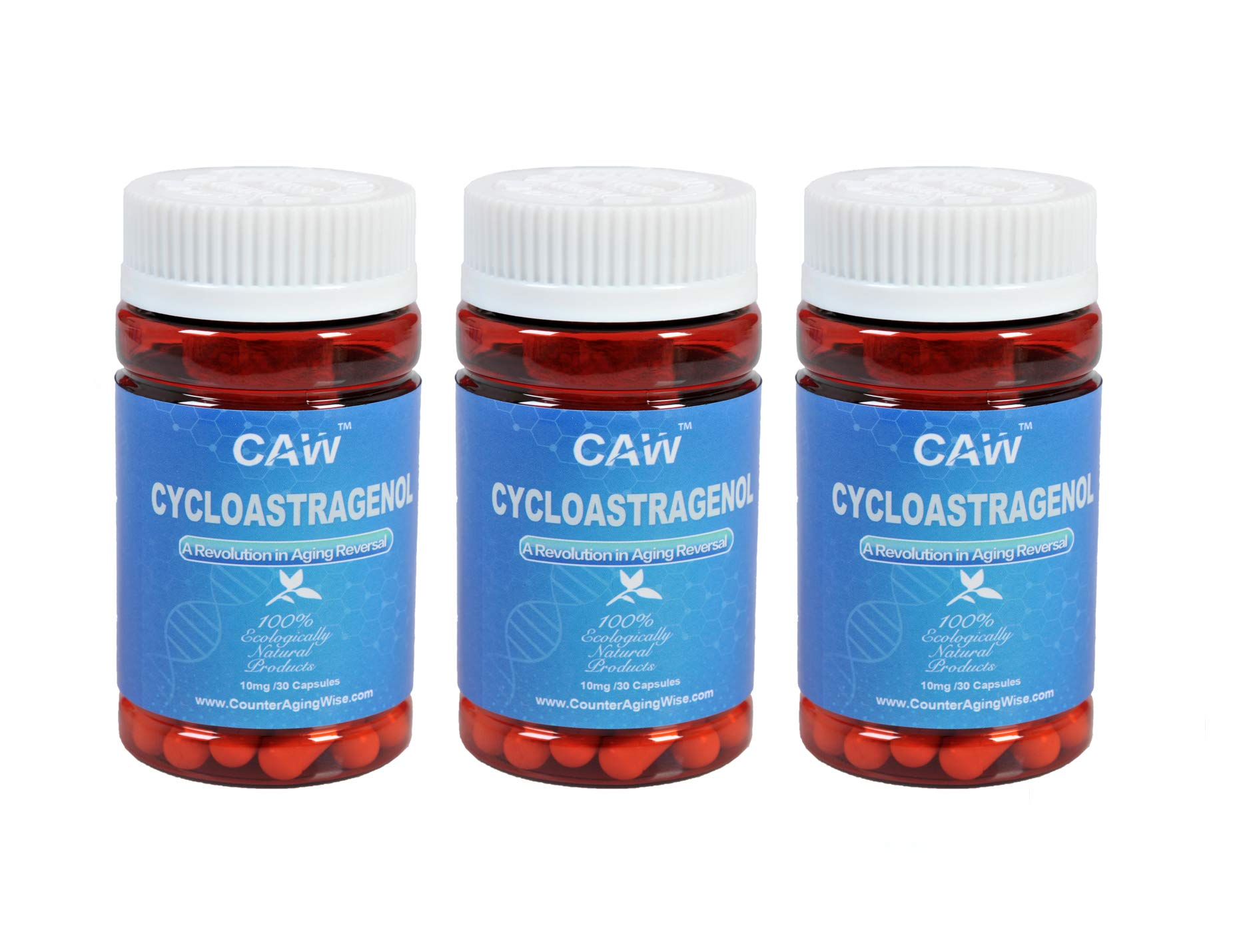 CAW Hypersorption Cycloastragenol 98% 10mg 90enteric-coated Capsules | Telomerase Activation |