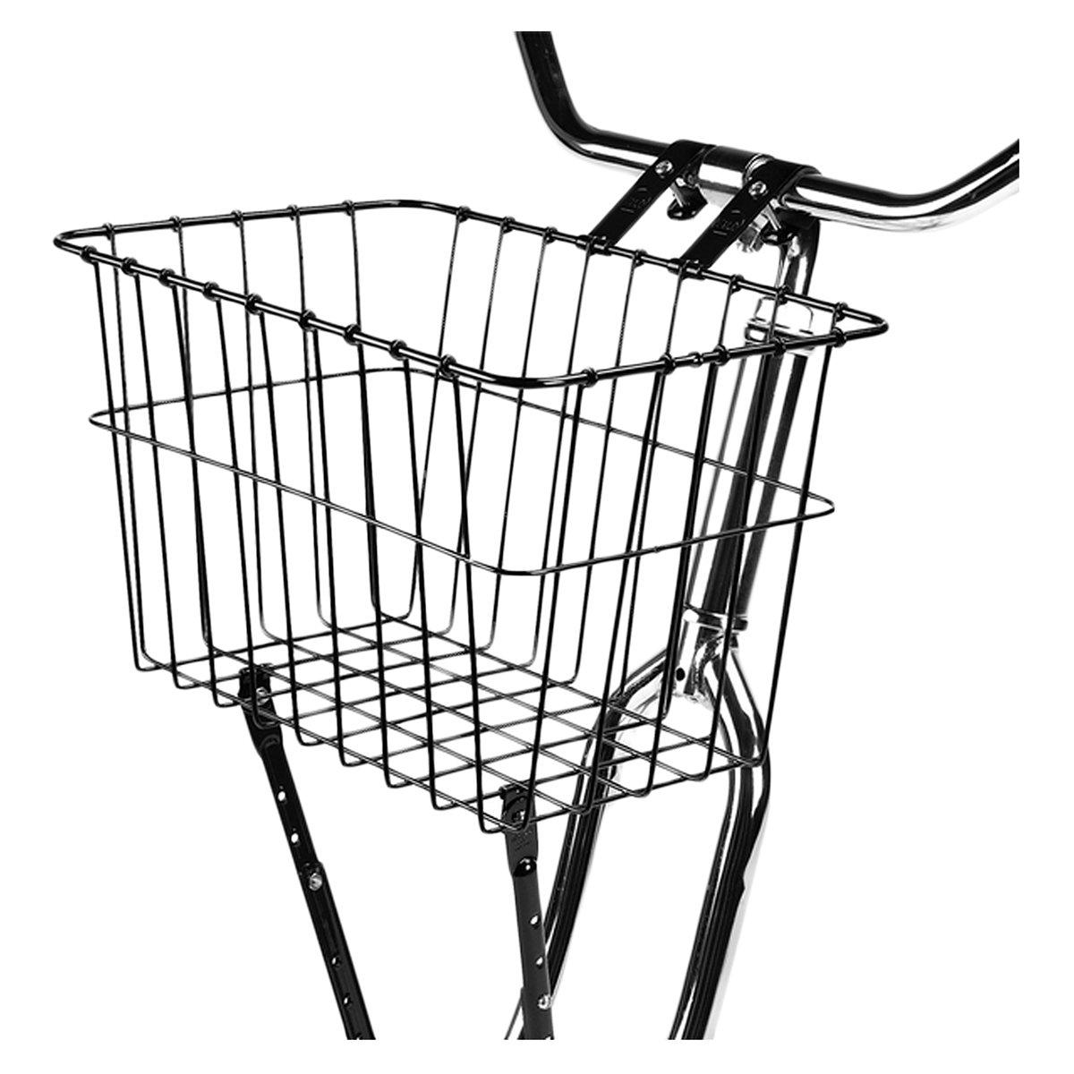 Wald # 198 multi-fitフロントHandlebar Bikeバスケット – ホワイト  シルバー B00JI6AV7O