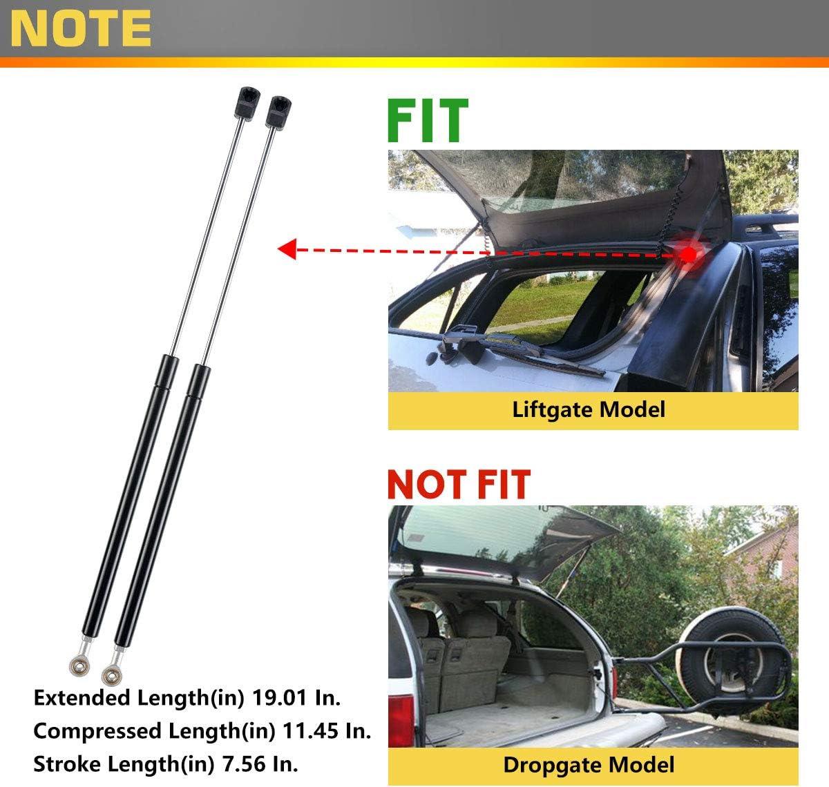 Set of 2 Rear Window Glass Lift Supports Struts Gas Springs Shock for Chevrolet Blazer Oldsmobile Bravada GMC Jimmy