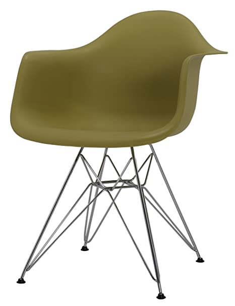 HNNHOME Inspire DAR Dining Plastic Chairs Lounge Armchair Office Furniture  Panton (Olive)