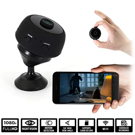 WIFI Cameras for Home Security Wireless Hidden Spy Camera Mini Spy Cam Surveillance System Night Vision, Cloud Storage, Motion Detection, Phone App, HD 1080p Video Small Indoor Nanny Car Dash Cams