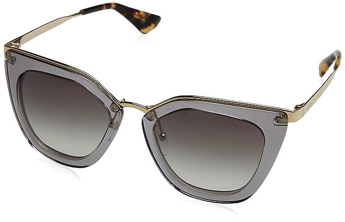 Amazon.com: Prada mujer transparente anteojos de sol, Gris ...