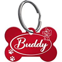 Cmart555 Distinctive Laser Engraved Dog Tags - Front and Back - Attractive Colours and Patterns