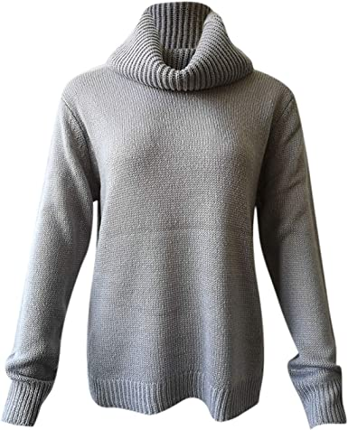 LAEMILIA Chandail Col Roulé Femme Pull Chaud Hiver Mohair Tricôté Pullover Kintwear Sweater
