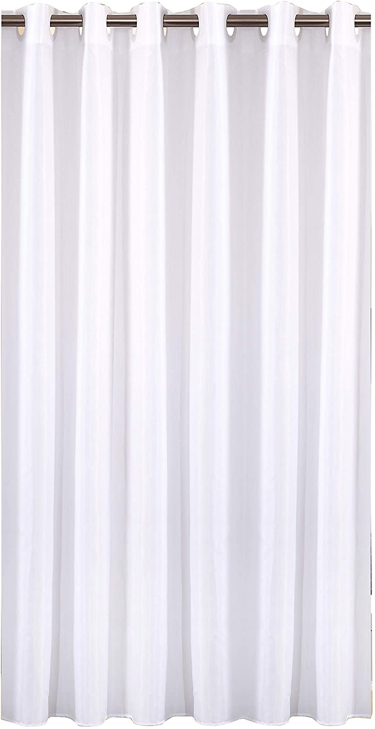 Sfoothome Polyester Shower Curtain Waterproof Bathroom Curtains Without Hooks,White(72 Inch Wide x 78Inch)