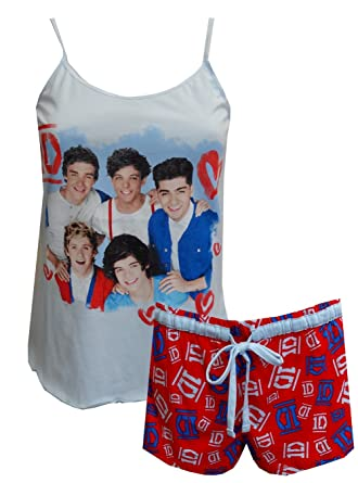 Amazon.com: 1D One Direction Band Members Shortie Pajamas for women ...