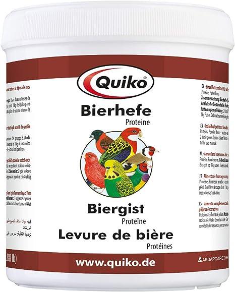 Quiko Cerveza Levadura Especial – Proteínas para Todos los Tipos de Adorno de pájaro (3 Unidades, X 400 g)