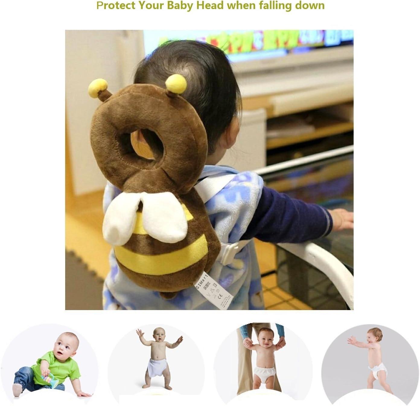 newin Star Cuscino di protezione testa cuscino da neonato protezione Cuscino poggiatesta regolabile per proteggere la testa collo e colonna andadores Ape Marrone//toma/ño L