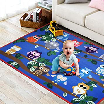 Amazon.com : Educational Kids Area Rug, Alphabet ABC Numbers Animals ...