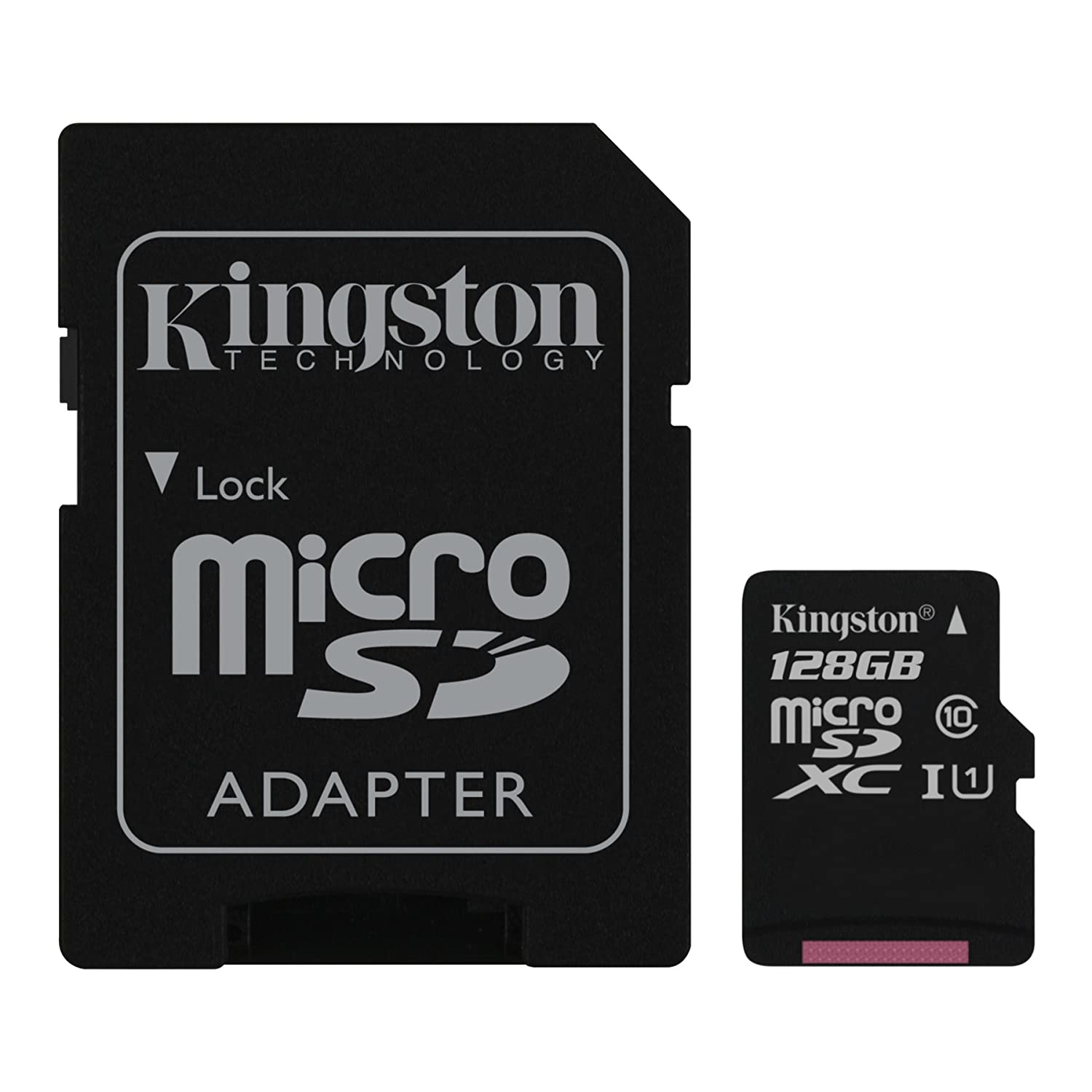 Kingston Digital 128GB microSDXC Class 10 UHS-I 45MB/s Read Card with SD Adapter - SDC10G2/128GB