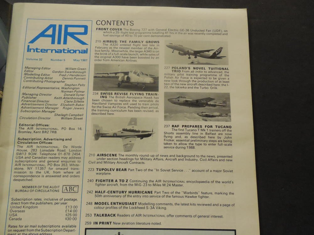 Air International Vol 32, #5 May 1987 Airbus A 320 (What A Pig) at Amazons Entertainment Collectibles Store