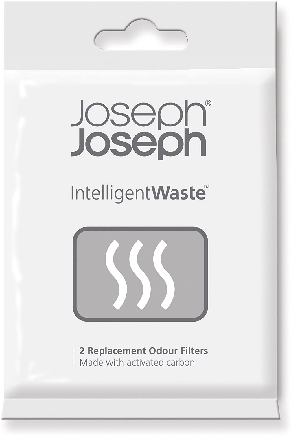 Joseph Joseph Intelligent Waste Replacement Carbon Odor Filters for Totem Titan Compost Bin, Pack of 2, Black