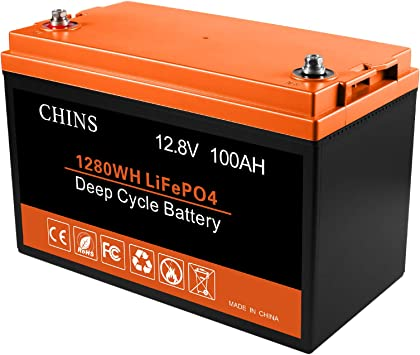 12V 100AH Lithium Battery, Built-in 105A BMS, 2000+ Cycles, Perfect for RV, Caravan, Solar, Marine, Home Storage and Off-Grid