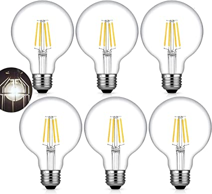 Amazon Com G25 Edison Led Globe Light Bulb 40w Equivalent Soft Warm White 2700k Kohree 4w E26 Dimmable Vanity Light Bulb For Bathroom Pendant Lighting Ceiling Fan Chandelier 400 Lumens 6 Pcs Health