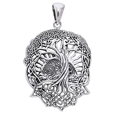 03d0f749d5e96 Amazon.com  Rising Sun - Interconnected Celtic Knot Tree and Roots of Life  Sterling Silver Pendant  Celtic Jewelry  Jewelry