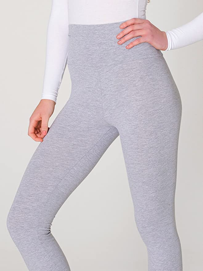 American Apparel Women Cotton Spandex Jersey Straight Leg Yoga Pant