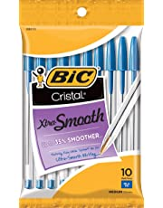 BIC Cristal Ball Pens Stick Medium Point, 10-Pack, Blue