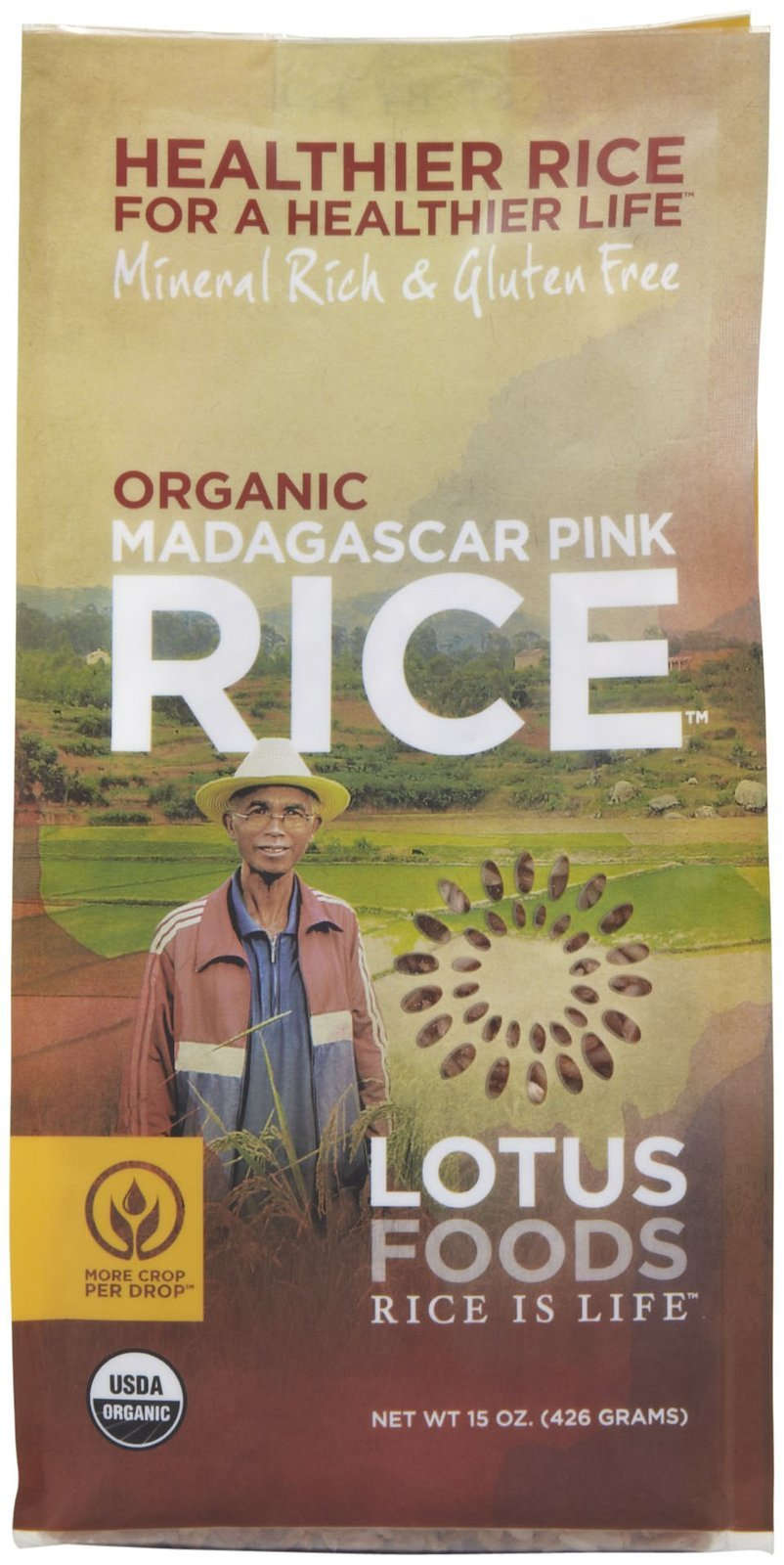 Lotus Foods Organic Madagascar Pink Rice-15 Oz