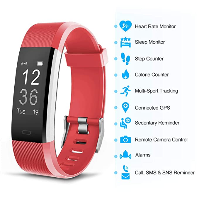 【Upgrade】 Fitness Tracker Watch,Activity Tracker Waterproof with Sleep Monitor,Smart Bracelet Smart Wristband Sport Pedometer Fitness Armbands Step ...