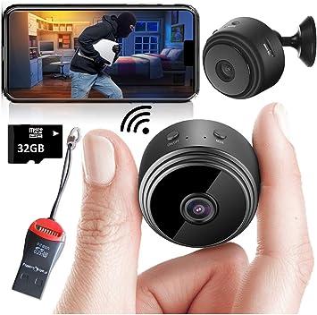 Mini Spy Camera Wireless Hidden Home WiFi Security Cameras with ...