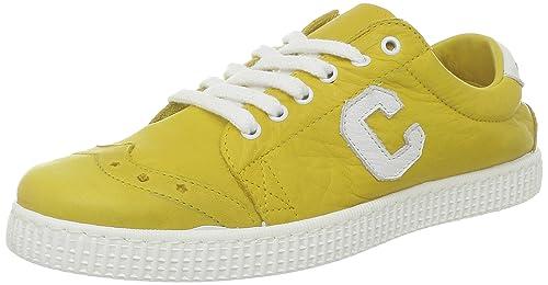Chipie Saville 275390-50 - Zapatillas de cuero para mujer, color amarillo, talla 37