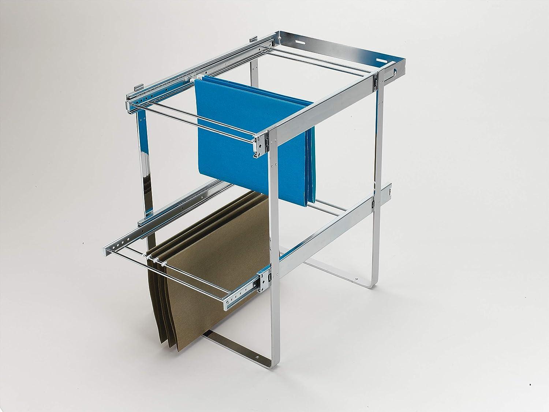 Rev-A-Shelf Chrome Two-Tier File Drawer System,