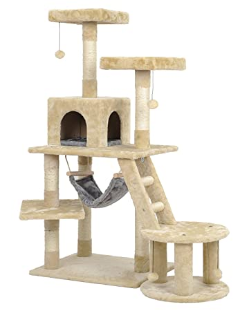 petian large base cat activity tree with hammock 51 u0026quot      amazon     petian large base cat activity tree with hammock 51      rh   amazon