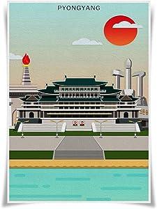 Nice Captain Travel Posters Famous Tourist Sites Prints A3 Size Wall Art Home Decor (Korea Pyongyang)