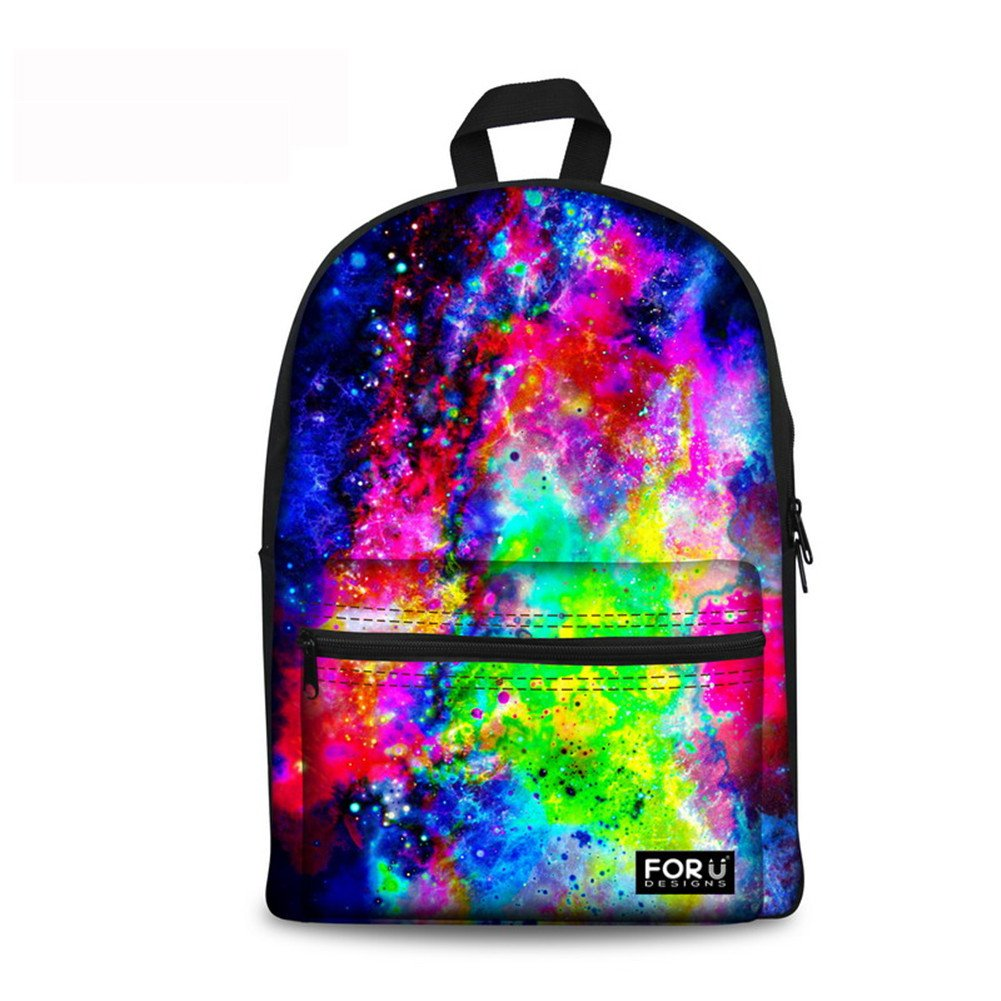 Ledback 3D Galaxy Kids Lunch Bag and Canvas School Bag Durable Insulated Lunch Box for Children Boys Girls Cool Backpack Travel Satchel Picnic Back to ...