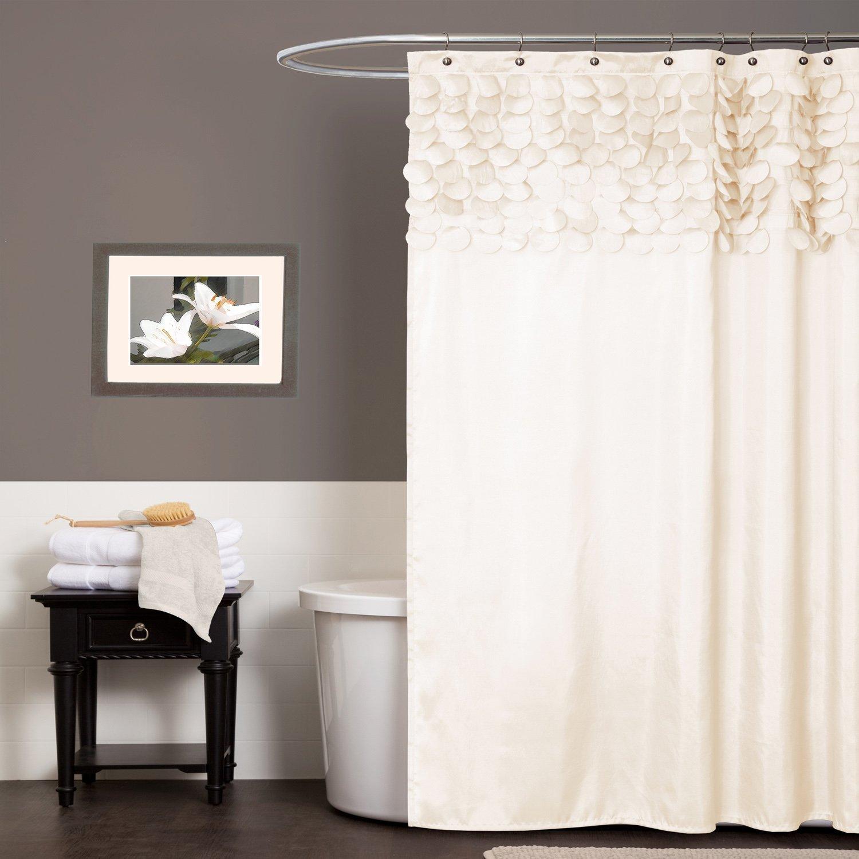 Amazon Jody Clarke 1PC Lilian Shower Curtain Circle Dream Panel Taffeta Circular Motifs 3D Looks 72 Wide X Long White Home Kitchen