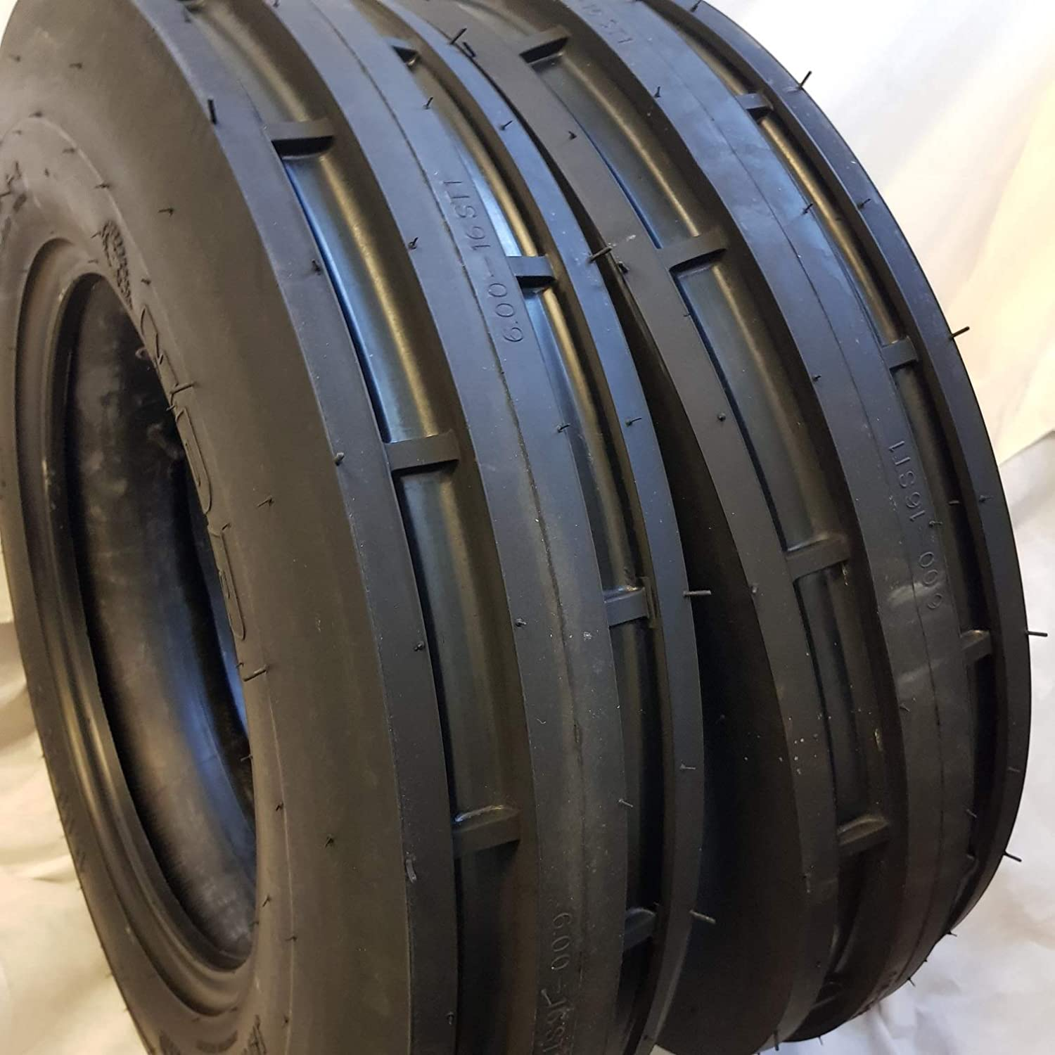 TWO 550X16,550-16,5.50X16 DEERE FORD Six Ply 3 Rib Tractor Tires w/Tubes 71aJz0wiNrLSL1500_