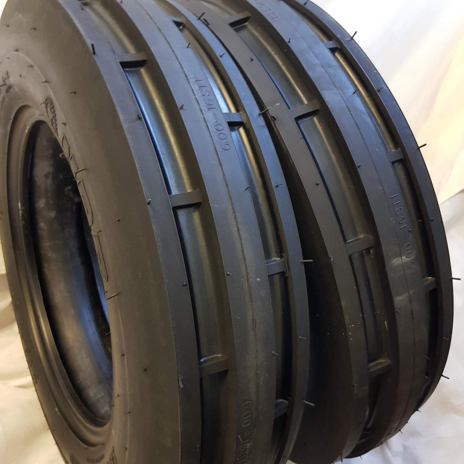 TWO 550X16,550-16,5.50X16 DEERE FORD Six Ply 3 Rib Tractor Tires w/Tubes by Road Warrior