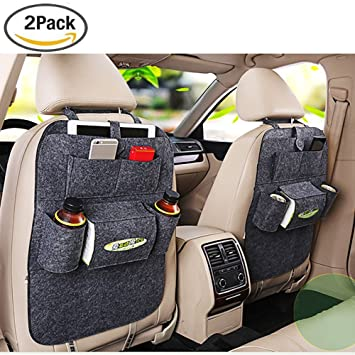 2PCS Car Seat Back Organiser Multi Pocket Felt Storage Bags Holders Travel UK