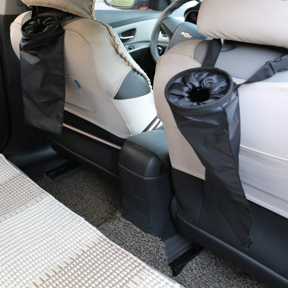 WEICHUANG 2 Pack Car Trash Bags Car Trash Can Washable Eco-Friendly Seat Back Hanging Car Trash Bag Car Garbage Bag for Car,Travelling,Outdoor