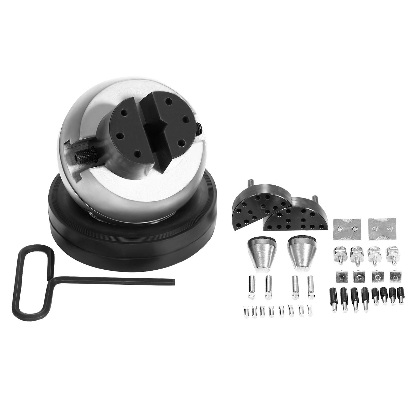 VEVOR Engraving Block 5 inch Ball Vise Setting Jewelry Ball Vise Engraving with 34PCS Attachment and Rubber Base by VEVOR (Image #5)