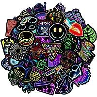 Jackify Neon Stickers[50 stuks] Gepersonaliseerde Vinyl Stickers, Coole Graffiti Sticker, PVC Waterdichte Vintage…