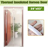Magnetic Thermal Screen Door Curtain, Insulated