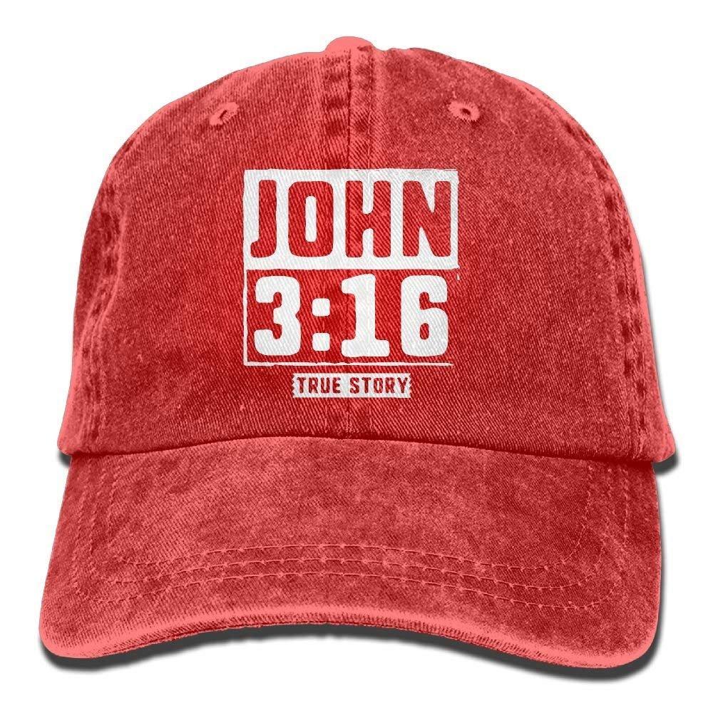 vhfnjs Fashion John True Story Christian Cowboy Hats Classic Baseball Caps Gift