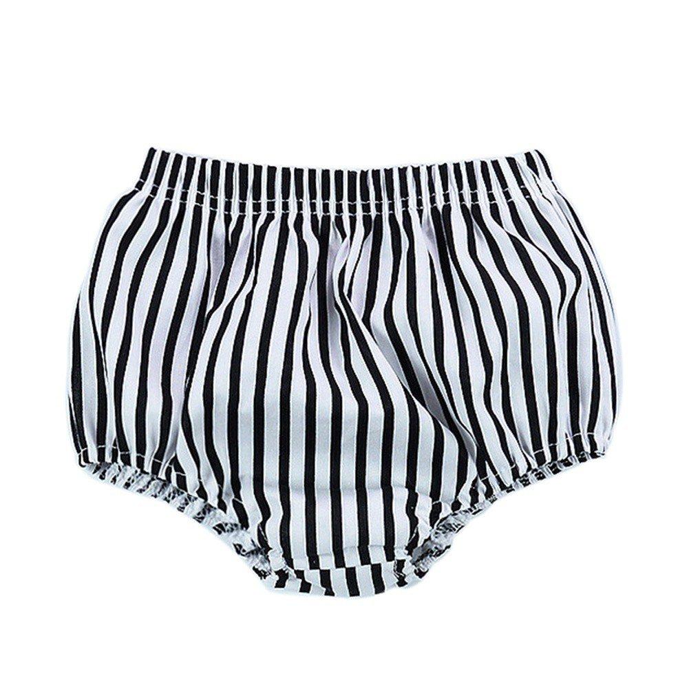 Brightup Baby Mädchen Jungen Sommer Gestreifte PP. Shorts Hosen, Nette Panty