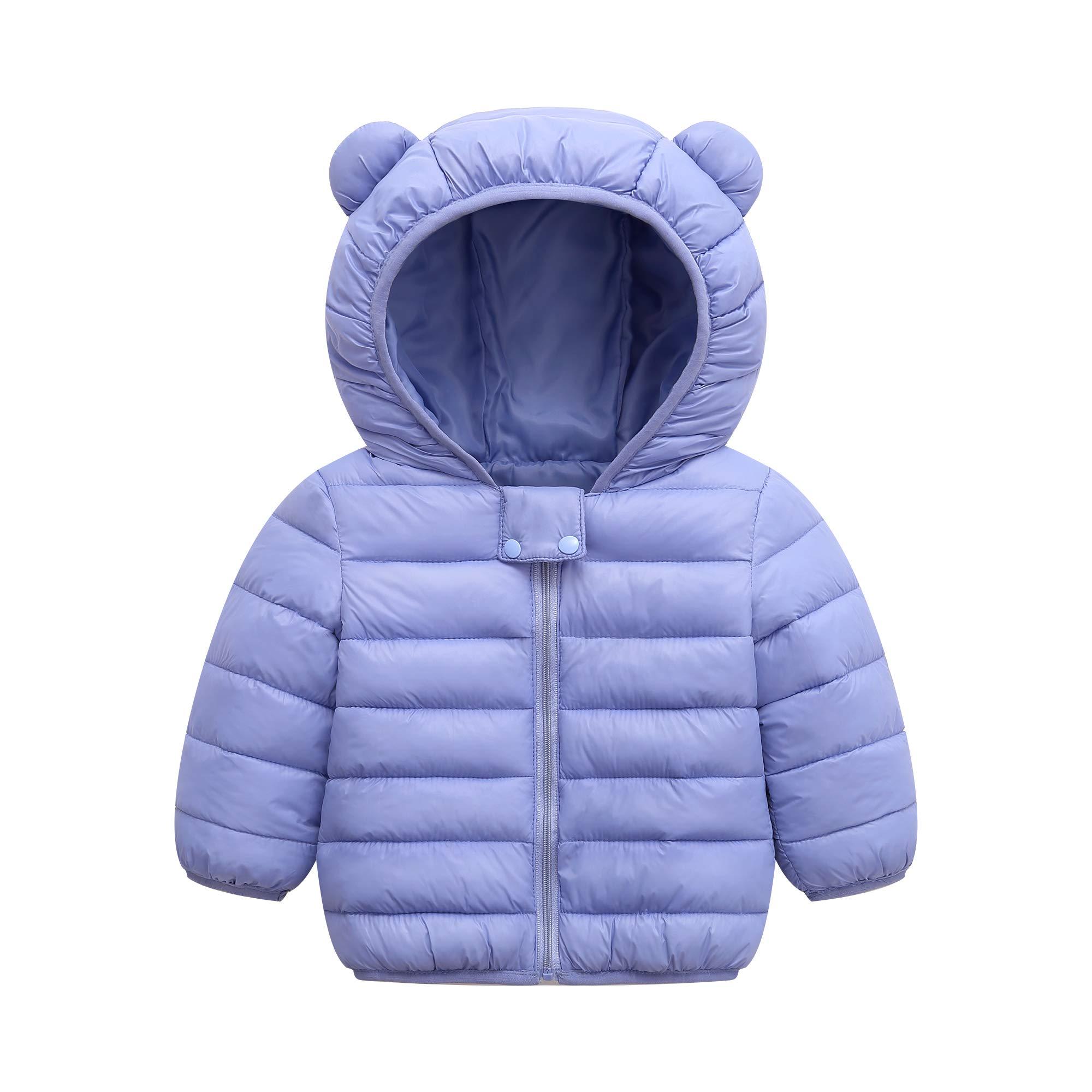 BSC007 Baby Boys Girls Winter Coats Hoods Light Puffer Down Jacket Outwear by BSC007