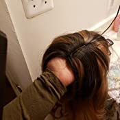 Amazon.com: Peluca de encaje frontal rizado de pelo humano ...
