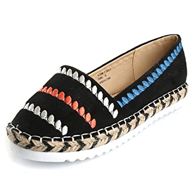 8a7c11170a Alexis Leroy Women s Closed Toe Casual Platform Slip On Espadrille Flat