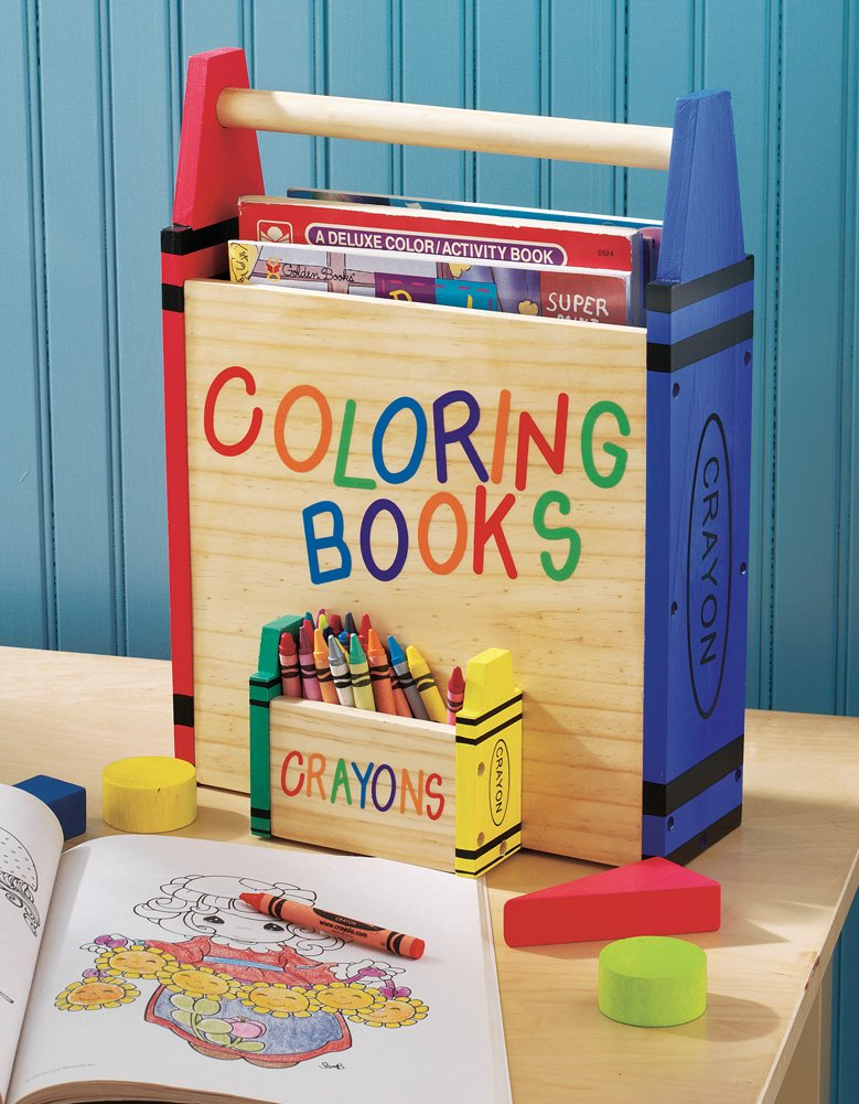 Amazon.com: Kids Coloring Book And Crayons Storage Carrier: Toys ...