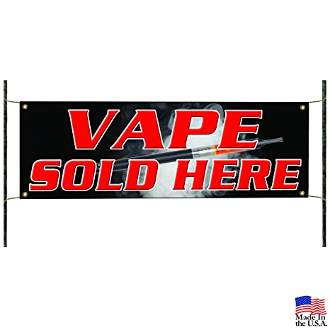 <b>Amazon</b>.com : Vape Sold Here Banner Sign Smoke Shop Cigarette Store ...