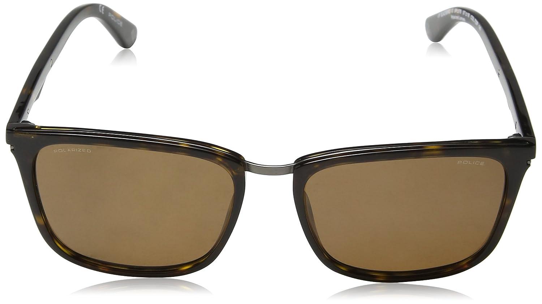 Police Sunglasses Herren Sonnenbrille Blackbird 10, Braun (Shiny Dark Havana), 57