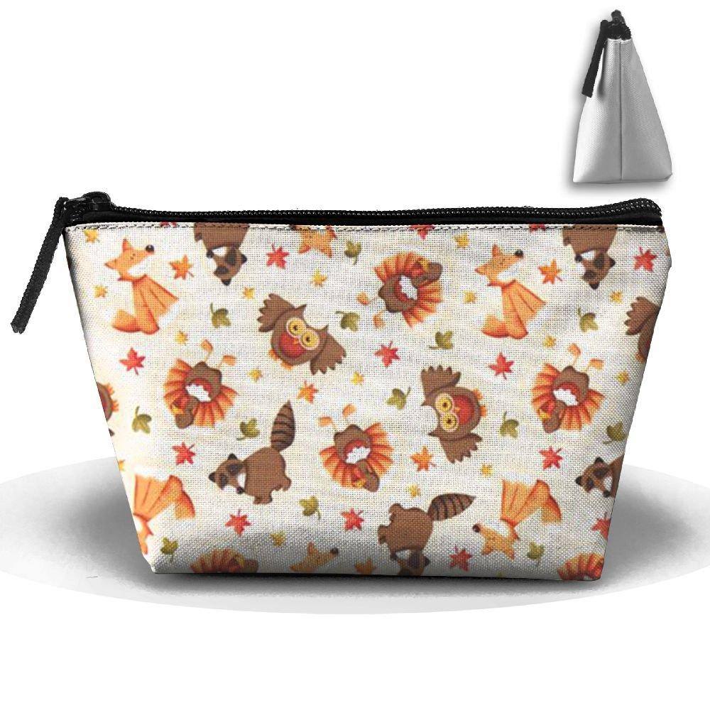 fvhtfty秋Fox Personalityポータブルレディース台形旅行バッグCosmetic Bag受信バッグ B07CSGZ7TY
