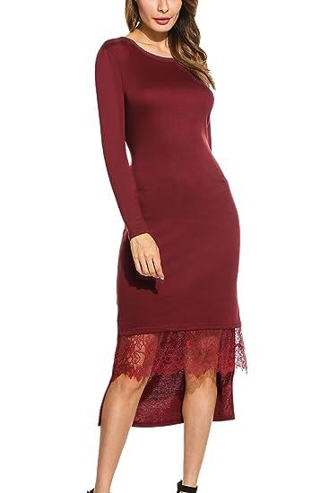 Long Sleeve Asymmetrical Dress