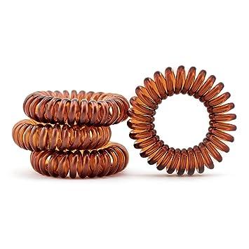 Kunststoff-Spirale elastisch Haargummi schwarz ,Telefonkabel 4er Set